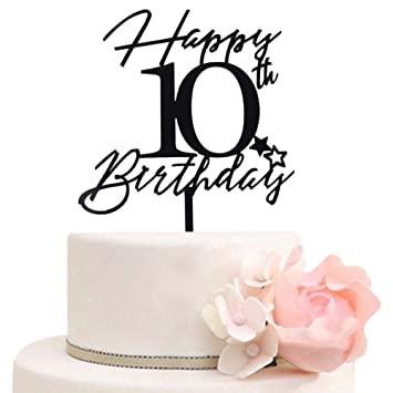 Cool Happy 10Th Birthday Cake Toppers For Boys Girls 10Th Anniversary Birthday Cards Printable Nowaargucafe Filternl