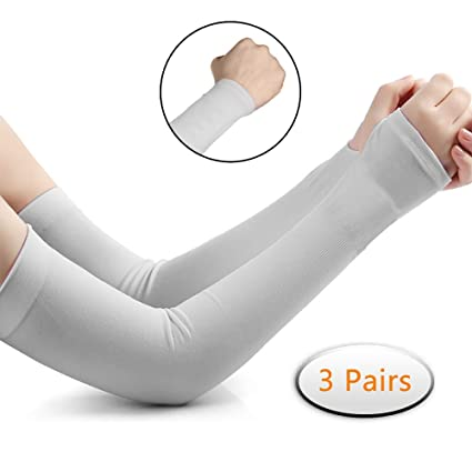 Active 1 Pair Uv Protection Arm Sleeves Pads For Man Cooling Running Cycling Fishing Basketball Bicycle Bike Arm Sleeves Covers Sports Running Arm Warmers Sports & Entertainment