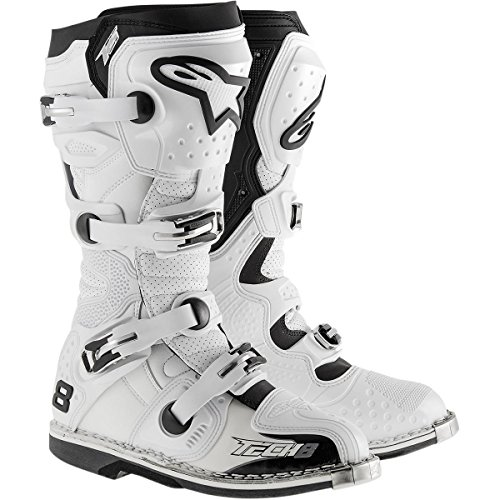Alpinestars Motocross-Stiefel Tech 8 RS Weiß
