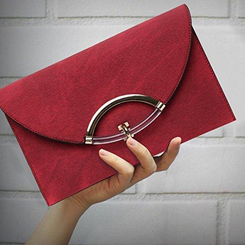 Bag Envelope With Red Clutch Shoulder Strap Bag Women's Bag Large Elegant Capacity Messenger Wrist qwgFxvIX