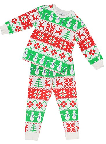 ATTRACO kids cute pajamas 100 cotton nightwear sets for boys red 7t