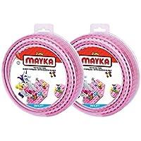 Mayka Toy Block Tape - 4 Stud - Pink - 6 Feet - 2 Pack...