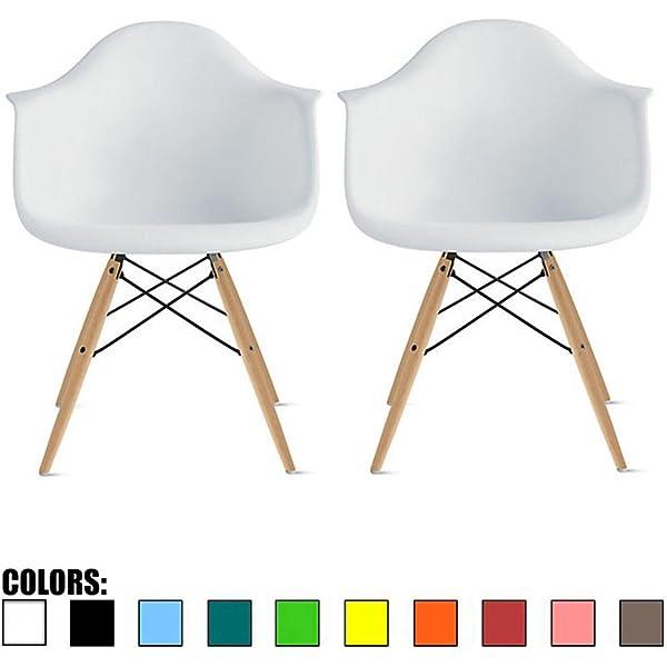 Amazon.com: Juego de cuatro (4) sillas de comedor 2xhome ...
