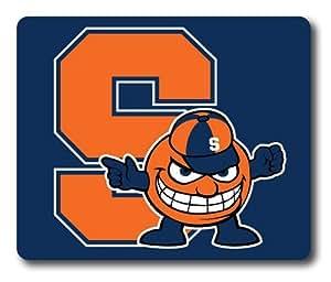 NCAA Syracuse Orange on Blue Rectangle Mouse Pad by eeMuse