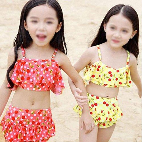 pezzi Split bambini bagno di Swimwear foglia Abby Girl 2 per da Little di Bikini a costume loto forma w8wTqPU