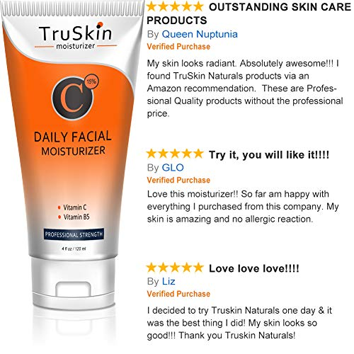 BEST Vitamin C Moisturizer Cream for Face - For Wrinkles, Age Spots, Skin Tone, Firming, and Dark Circles. 4 Fl. Oz by TruSkin Naturals (Image #3)