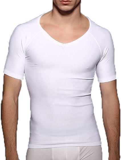 KAZOGU Camisa Moldeadora para Hombres Corsé Camisa ...