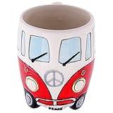 Volkswagen – Red Ceramic Shaped Coffee Mug / Cup (VW Camper Van / Bully / T1)