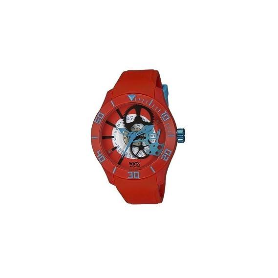 Watx Reloj Análogo clásico para Hombre de Cuarzo con Correa en Caucho REWA1921: Amazon.es: Relojes