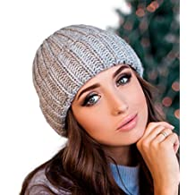 Braxton Hats Double Fleece Lined Warm Merino & Alpaca Wool Winter Knit Hat - Skull Ribbed Fold Fisherman Thick Chunky Cable Crochet Braided brimmed Cuffed Beanie – Cap For Mens & Women