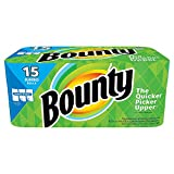 Bounty sdeDww Select-a-Size Paper Towels, White, Jumbo roll, 15 Count (6 Pack(15 Jumbo rolls))