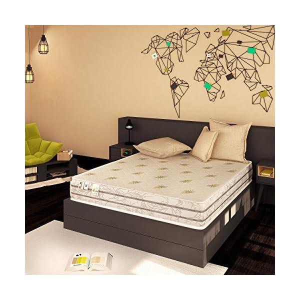 Baldiflex Materasso Memory Easy Super Top Matrimoniale con Rivestimento in Aloe Vera, Misura 160x190x23 cm 2 spesavip
