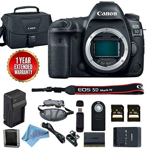 Canon EOS 5D Mark IV DSLR Camera (Body Only) 1483C002 Base Bundle