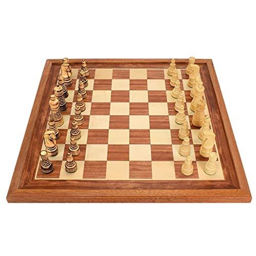 (ZWS Creative International Wood Chess Checkers Chess Board Kids Intellectually Development Learn Toys Wooden Chess Pieces Checkers Chess Intellectual Game (Size : 50502.3cm))