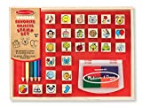 Toys : Melissa & Doug Wooden Stamp Set, Favorite Things - 26 Wooden Stamps, 4-Color Stamp Pad