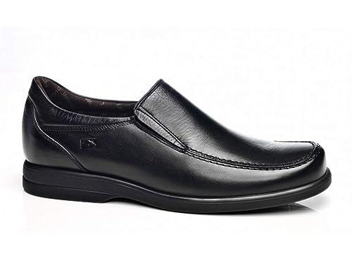 Zapatos Sport Hombre - Profesionales - FLUCHOS - Piel Negro Tipo mocasín, con elásticos,