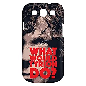 Loud Universe Samsung Galaxy S3 What Would Tyrion Do Print 3D Wrap Around Case - Multi Color