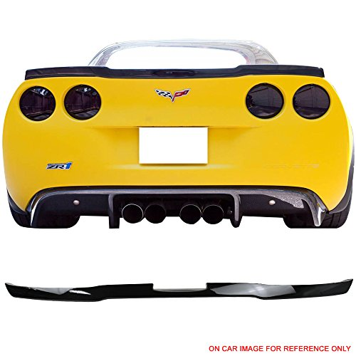 (Pre-painted Trunk Spoiler Fits 2005-2013 Chevrolet Corvette C6 | Factory Style Black #WA8555 ABS Rear Spoiler Wing Lid by IKON MOTORSPORTS | 2006 2007 2008 2009 2010 2011 2012)