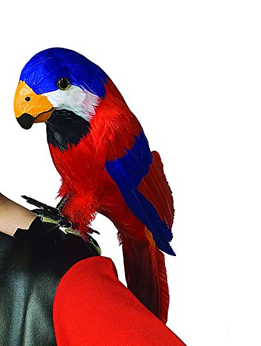 Feathered Red Parrot Macaw Pirate Costume Shoulder (Pirate Parrot Costume)