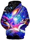 RAISEVERN Galaxy Nebula Earth Jupiter Design Fleece
