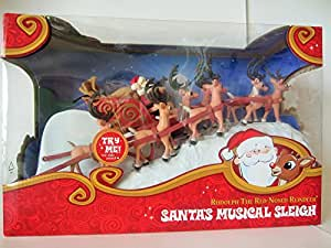 Rudolph the Red-Nosed Reindeer Misfit Island Figurine Santa's Musical Sleigh Collectable