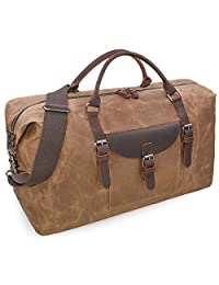 Oversized Travel Duffel Bag Waterproof Weekender Leather Overnight Canvas Tote Bag