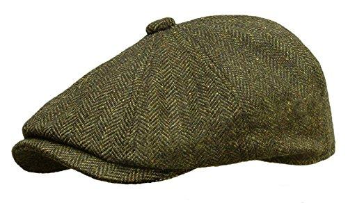 ROOSTER Herringbone Wool Tweed Newsboy Ivy Cap Gatsby Golf Driving Hat  Green - Buy Online in UAE.  8df732a5e97b