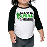 SH-rong Give Peas A Chance Toddler Round Collar Tshirt