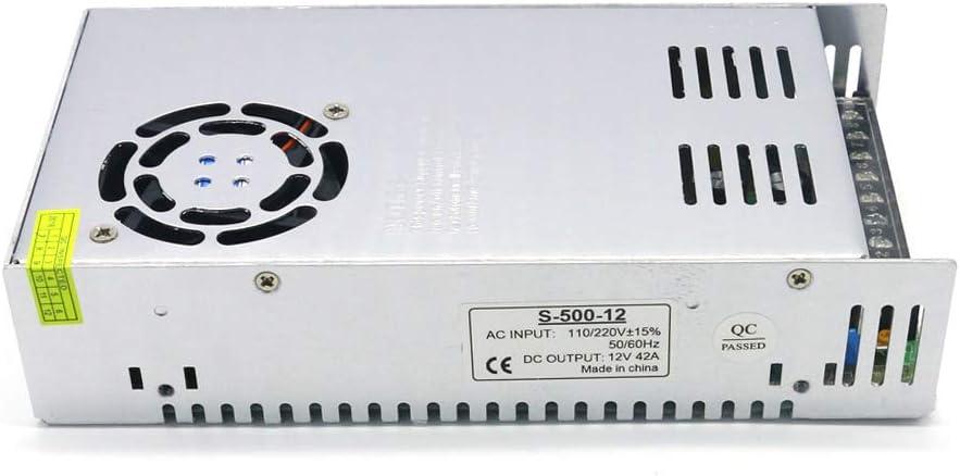 Lilideni AC 100-240V a DC 12V 20.8A 250W Transformador de Voltaje Conmutaci/ón regulada Fuentes de alimentaci/ón Adaptador Convertidor para Tiras Luz C/ámara Proyecto de computadora Radio