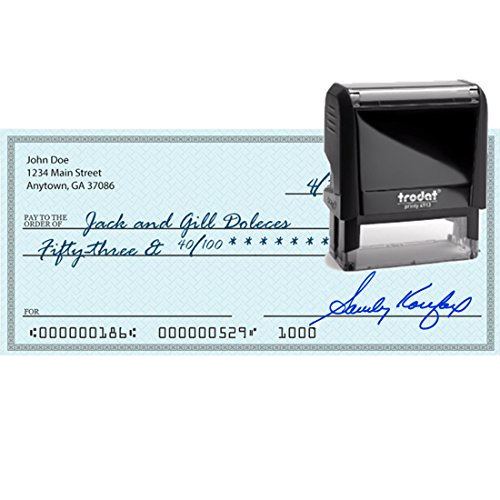 Blue Ink, Signature Stamp, Self Inking. Your Own Signature Customized into the Best Quality Stamper. Great For Regular Signing. Color Options Available. Sign Off Checks, Contracts, Certificates by Pixie Perfect Signature Stamps (Image #6)
