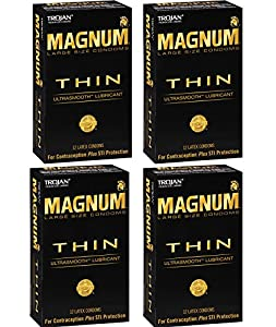 Trojan Magnum UBmxn Thin, 12 Count (Pack of 4) dlqbd