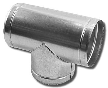 Y-St/ück L/üftung Verbinder /Ø 80 100 125 150 mm Verzinkt f/ür Alu-Flex-Rohr 125 mm