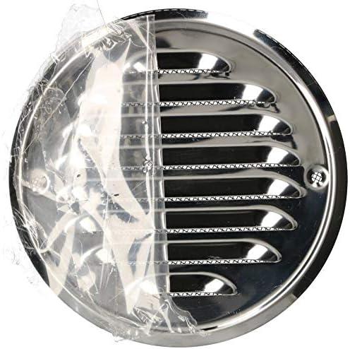 KOTARBAU/® rejilla de ventilaci/ón rejilla de protecci/ón contra insectos Rejilla de ventilaci/ón redonda de 130 mm acero inoxidable enroscable