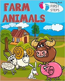 Farm Animals Coloring Book Farm Animals Books For Kids Toddlers