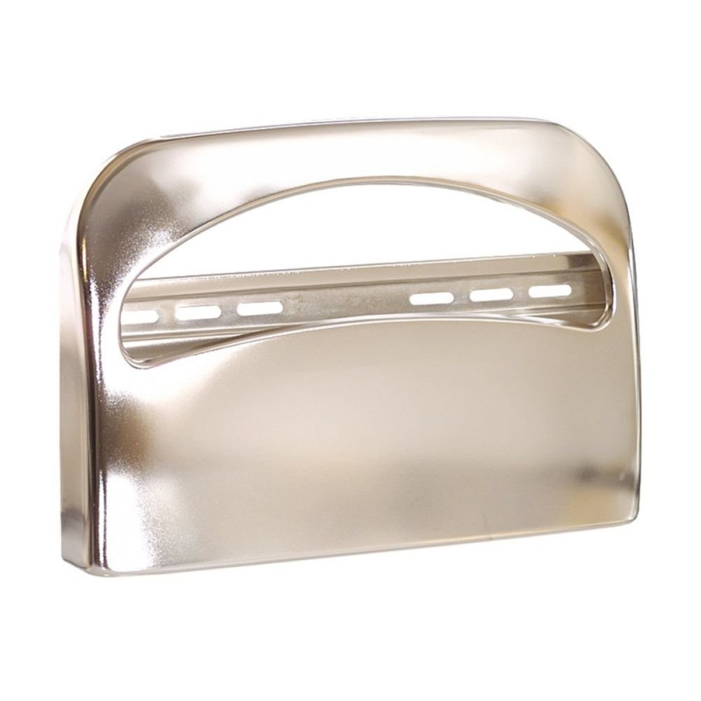 Georgia Pacific 57725 Safe-T-Gard 1/2 Fold Toilet Seat Cover Dispenser, Chrome