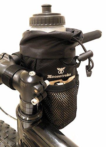 Moosetreks Bike Handlebar Stem Bag | Food Snack Storage, Water Bottle Holder | Bikepacking, Bicycle Touring, Commuting, Insulated Pouch by Moosetreks (Image #5)