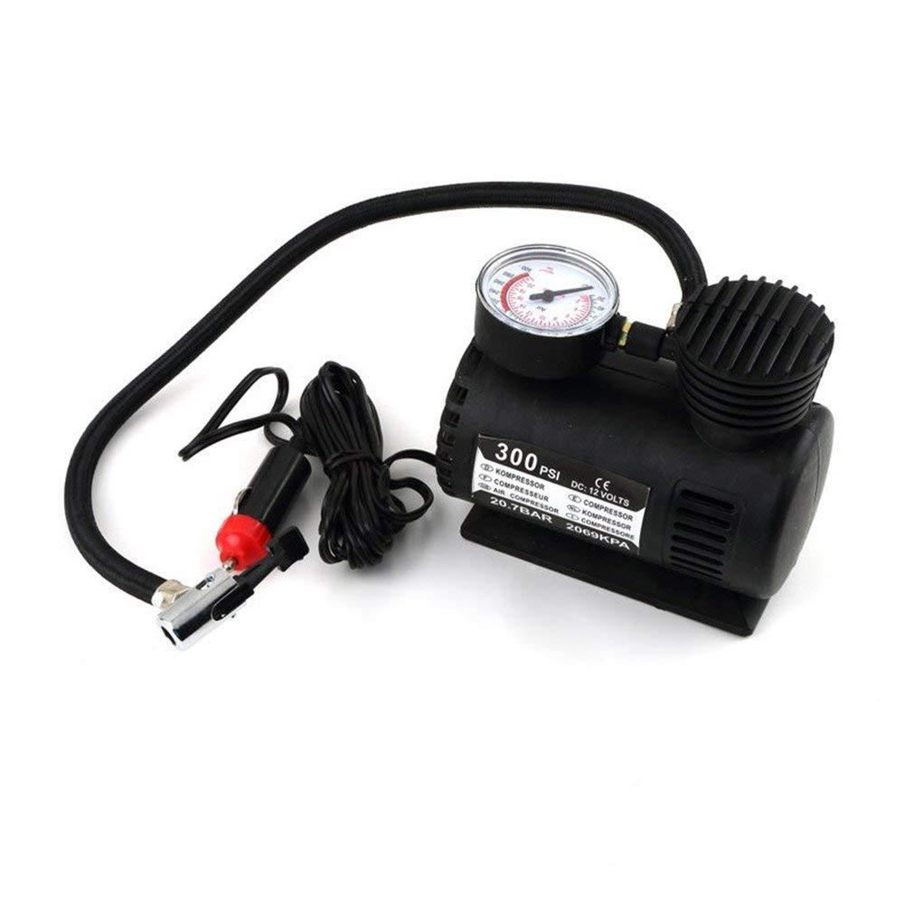 CLKJCAR 300PSI Compresor de inflado de neum/áticos Port/átil Bomba de presi/ón de neum/ático Compresor de aire Bomba de neum/ático de autom/óvil con indicador de presi/ón