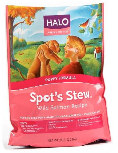 Halo Spot's Stew Natural Dry Dog Food, Puppy, Wild Salmon Recipe, 10-Pound Bag, My Pet Supplies
