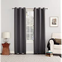 "Sun Zero 44030 Blackout Curtain Panel, 40 x 84"", Solid, Charcoal"