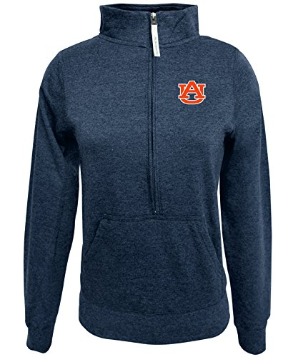 Alta Gracia NCAA Auburn Tigers Women's 1/2 Zip 50/50 Fleece Top, Navy, Small ()