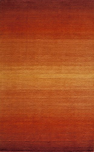 Momeni Rugs METROMT-12PAP5080 Metro Collection, 100% Wool Hand Loomed Contemporary Area Rug, 5' x 8', Paprika