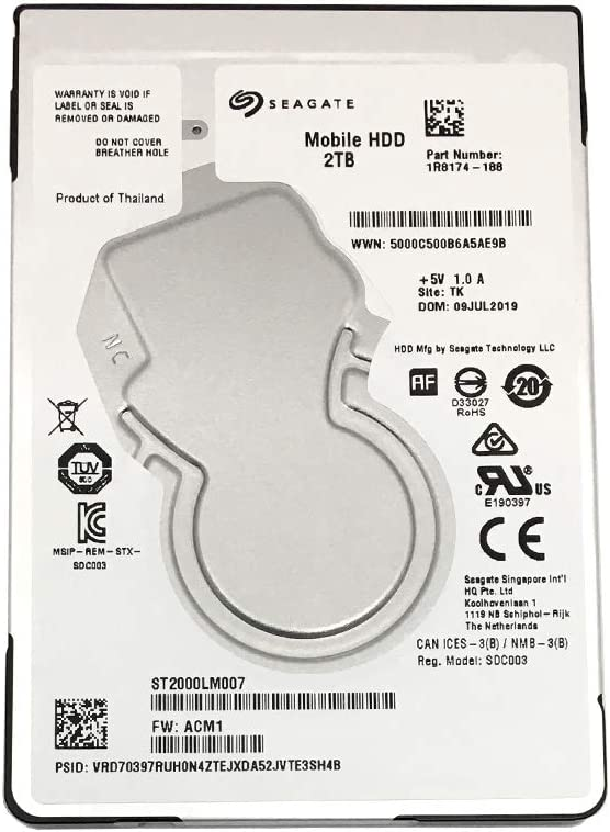 Seagate Mobile HDD ST2000LM007 2TB 128MB Cache SATA 6.0Gb/s 2.5inch Internal Notebook Hard Drive - 2 Year Warranty