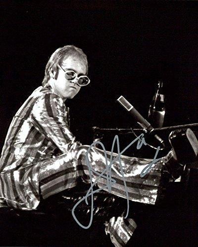 Elton John signed 8x10 photo (Elton John Memorabilia)