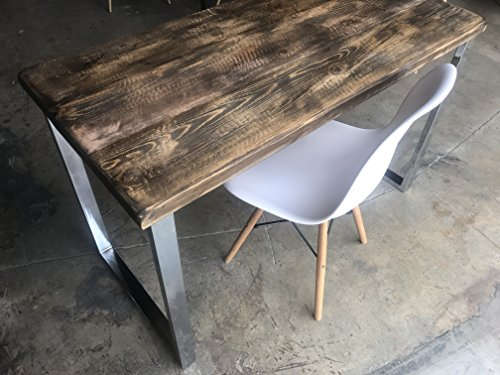UMBUZÖ Solid Reclaimed Wood  Chrome Leg Desk