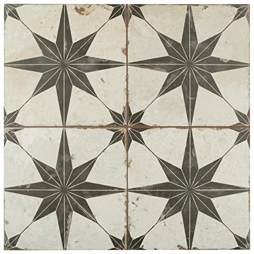 (SomerTile FPESTRN Reyes Astre Ceramic Floor and Wall, 17.625