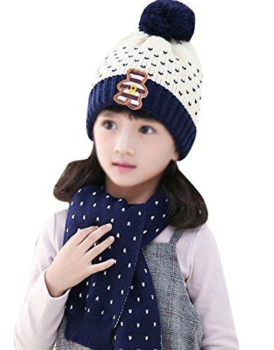 de Girl o Hat Boy para Aisi Beige bufanda invierno Pleasant ni wXqOS