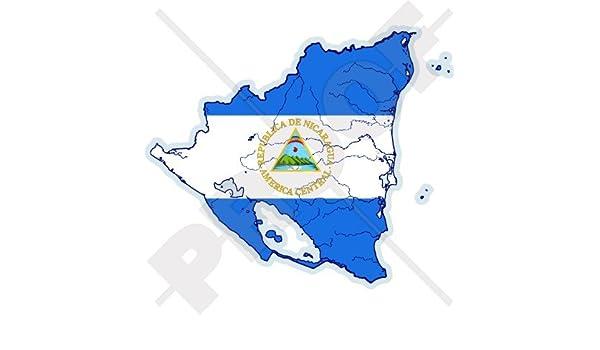 NICARAGUA Nicaragüense Mapa-Bandera Centroamérica 4.2