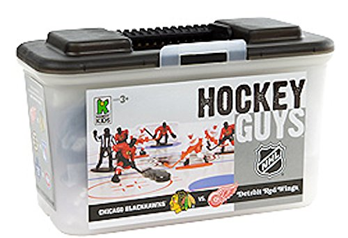 Kaskey Kids Hockey Guys: Blackhawks vs. Red Wings - Inspires Imagination with Open-Ended Play - Includes 2 Full Teams and More - For Ages 3 and Up