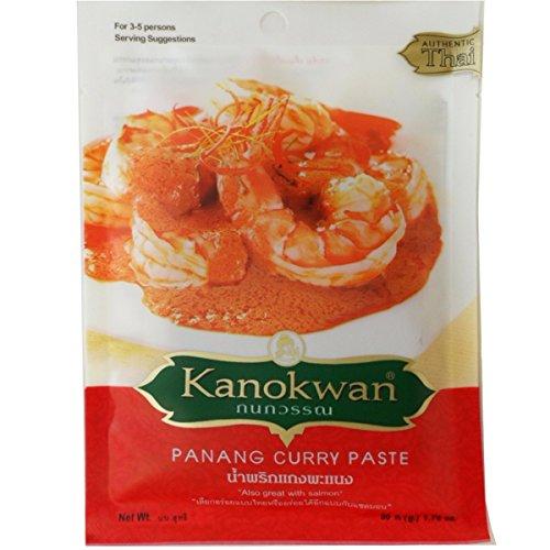 - Panang Curry Paste (Kaeng Panang) Thai Authentic Herbal Food Net Wt 50 G (1.76 Oz.) Kanokwan Brand X 3 Bags