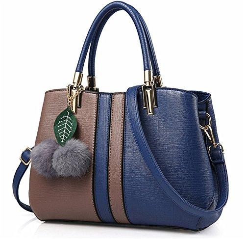 Bolsos de señora Xinmaoyuan Lady Bolsos Bolso de Hombro salvajes simple bolsa bandolera, Rosa Brown